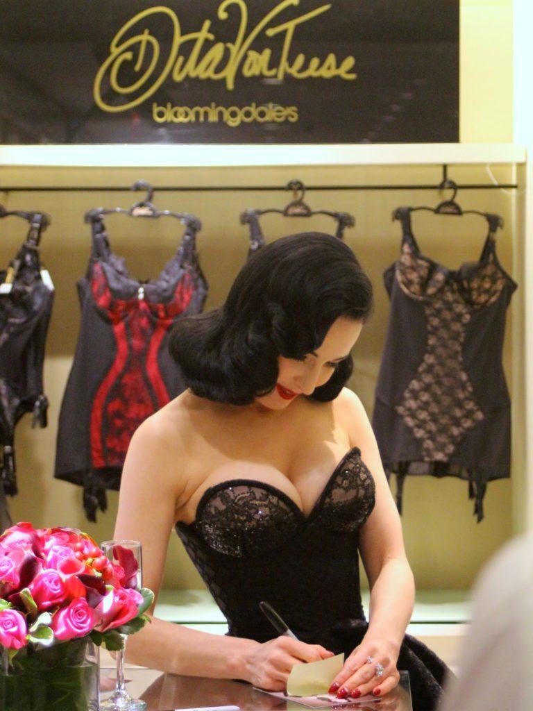 b629feeefe90 Dita Von Tees lingerie launch in Bloomingdales. Dita Von Teese is a ...