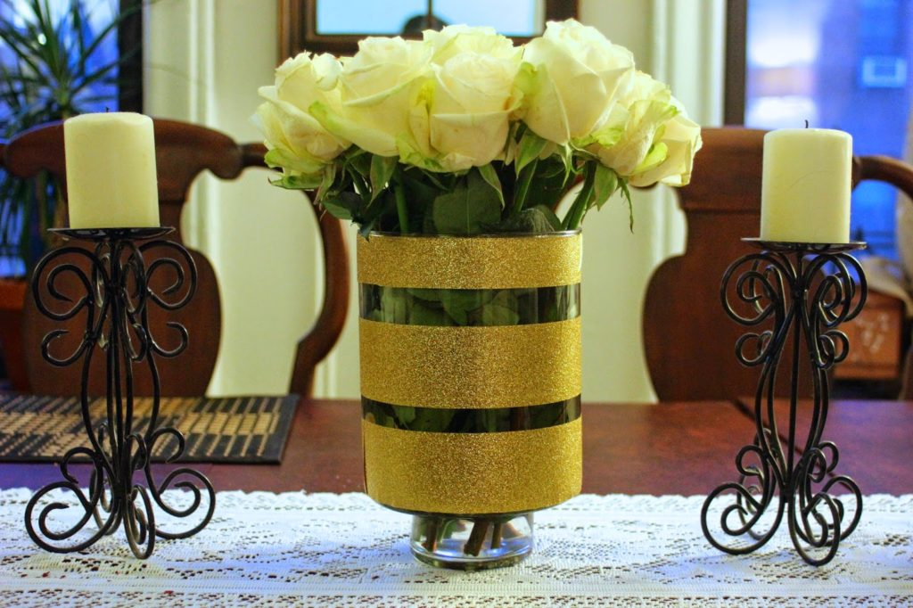 Diy Gold Glitter Vase For Home Or Wedding Decor Domesticated Me