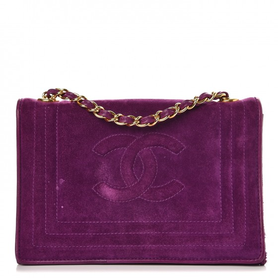 4e8450015feca7 Did you ever imagine you could own a Chanel Flap Bag for less than $1,000?  Way less!? Now you can own this beautiful suede bag in a gorgeous purple  color ...