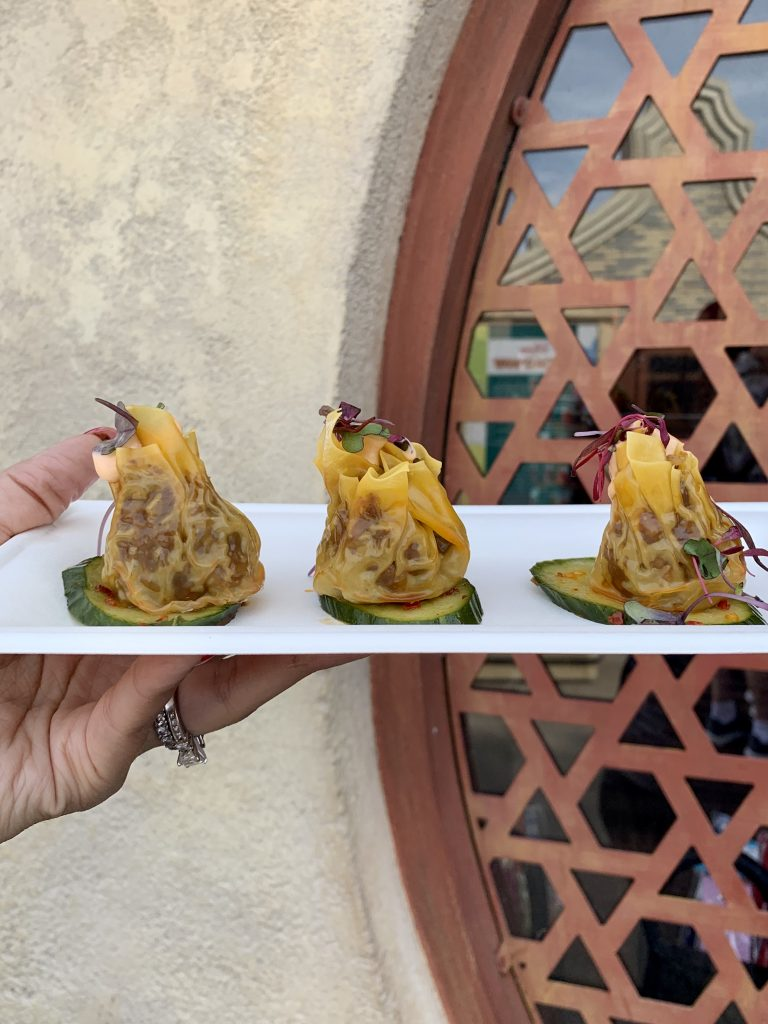 Disney Epcot The Painted Panda Spicy Beef Shumai