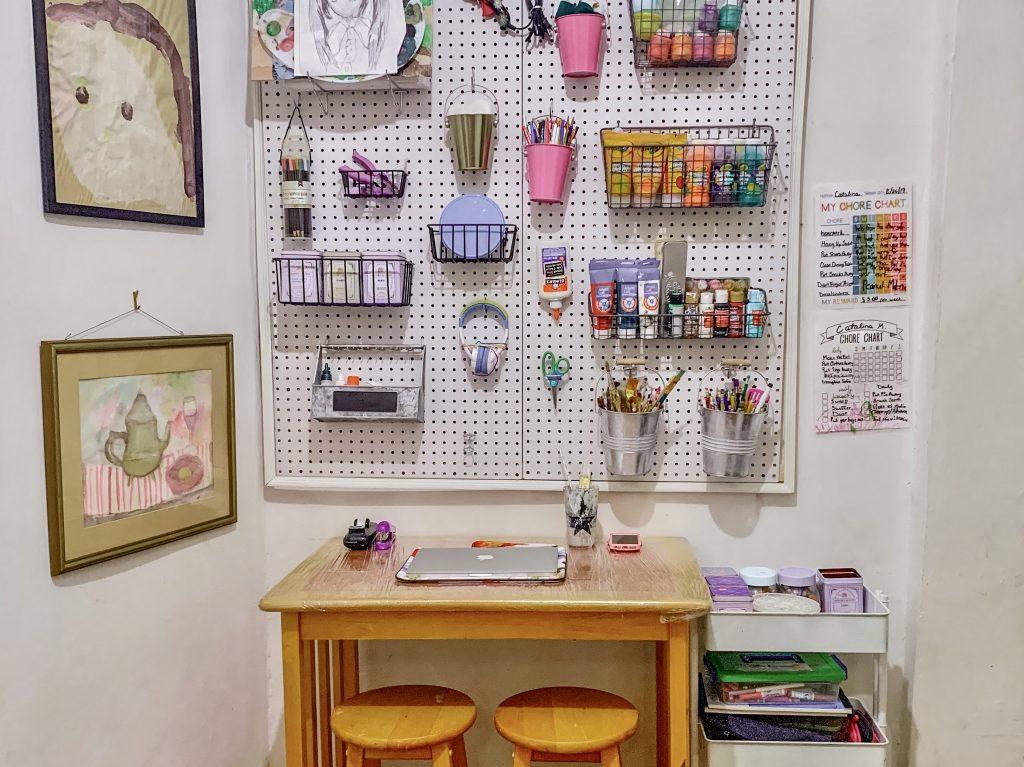 Arts & Crafts Pegboard Organization Home DIY